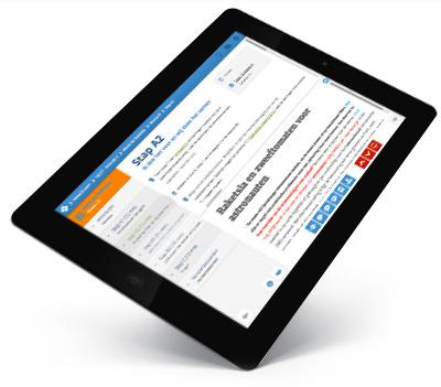 Digitale lerarenhandleiding op de iPad